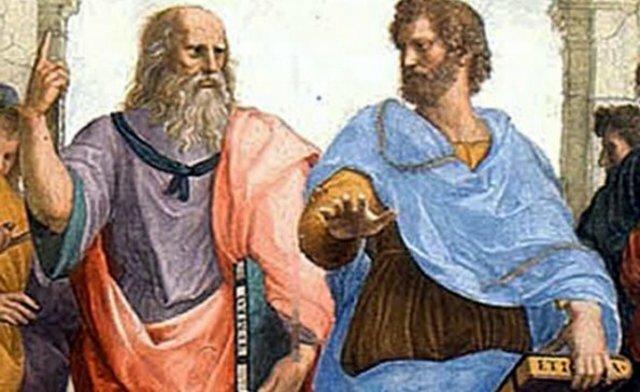 Platón y Demócrito