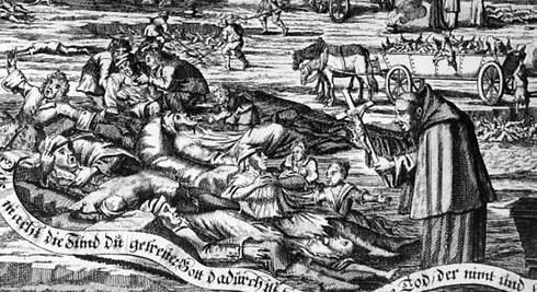 Inici de la pandèmia de la peste negra per a España