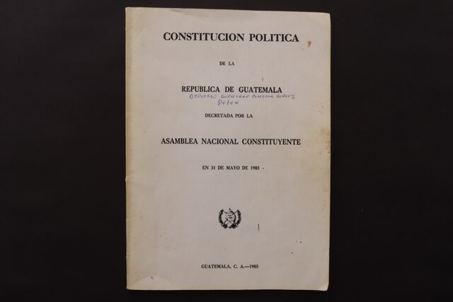 Constitución política del Estado de Guatemala
