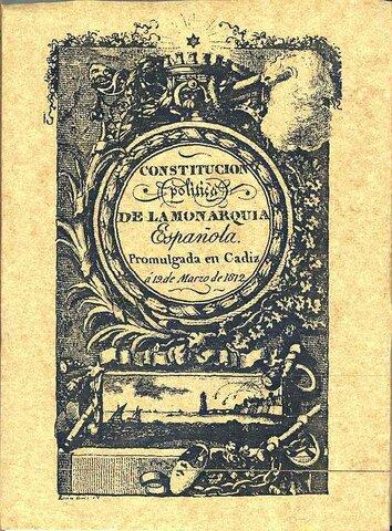 """Primera constitució liberal """"La Pepa"""" a Cádiz."""
