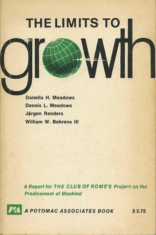 """publicación de """"Los límites del crecimiento"""""""