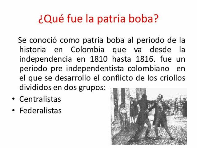 """Periodo de la """"Patria Boba"""""""