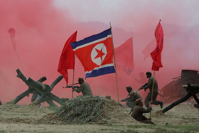 Guerra en la peninsula de Corea.