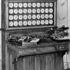 Aparece perforadora que representa letras y dígitos