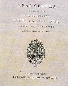 creación del Consulado de Buenos Aires