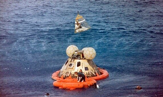 Apollo 13 returns to Earth with crew members safe