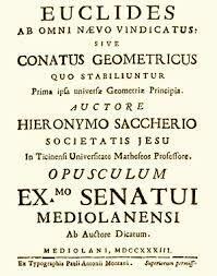 Giovanni Gerolamo Saccheri (1667 - 1733)