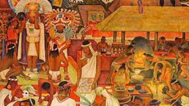 Se establece el comercio, las invasiones, la construcción de chozas y altares.