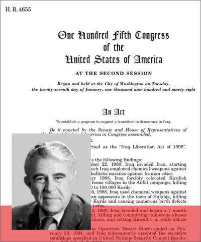 Vote de l'Iraq Liberation Act