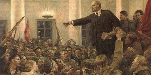 Revolución marxista soviética en Rusia.