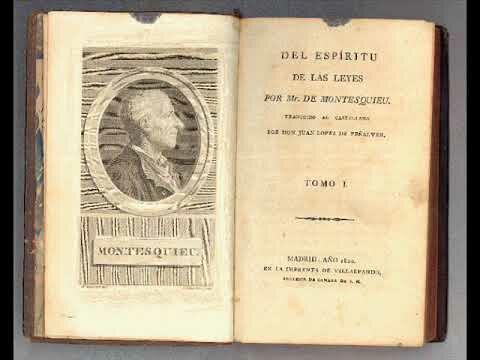 Publicación del Espíritu de las Leyes de Montesquieu.