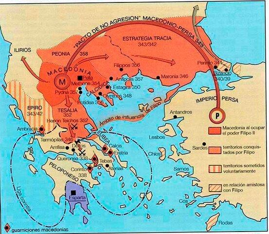 Màcedonia conquereix Grècia