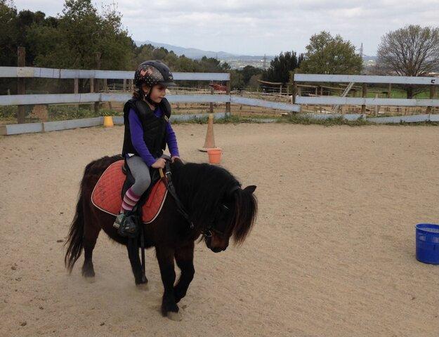 vaig començar a muntar cavall