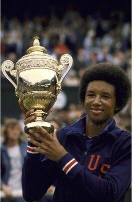 Arthur Ashe marked a milestone at Wimbledon