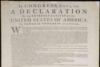 Declaración de independencia de EE.UU.