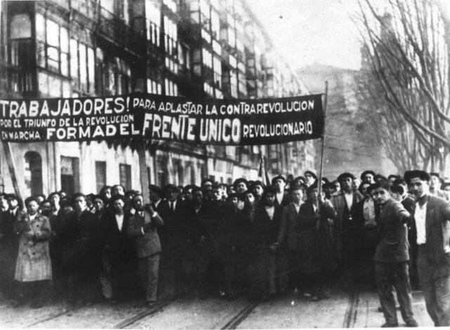 Movimiento obrero. Los internacionales y los sindicatos