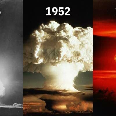 Von USA durchgeführte Kernwaffentests zwischen 1945 und 1963 timeline