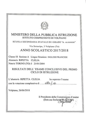 Diploma 3^ Media