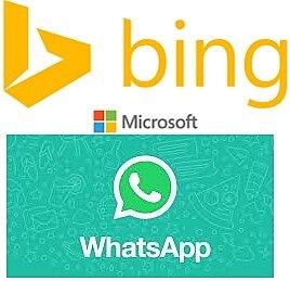 WhatsApp y  Microsoft Bing.