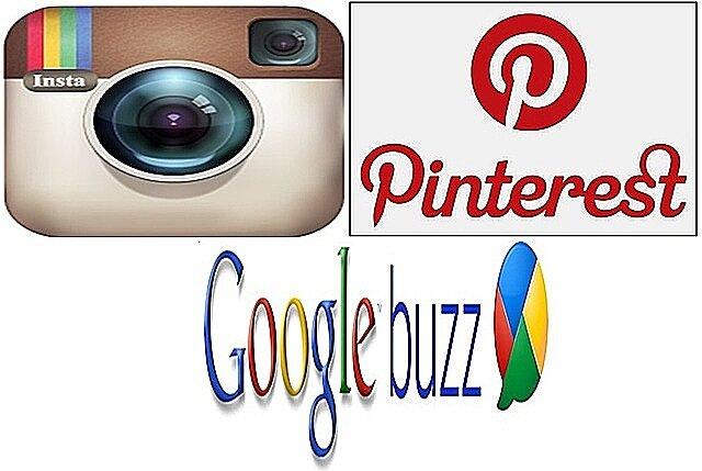 Instagram, Pinterest y Google Buzz.