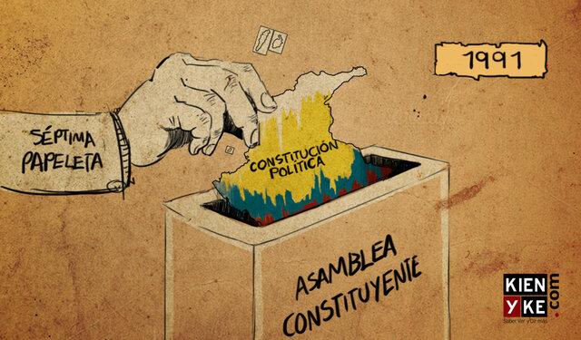 Promulgación de la constitución de 1991