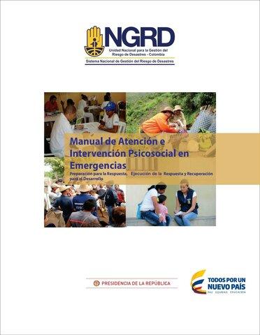 La UNGR expide el Manual de atención e intervención psicosocial en Emergencias