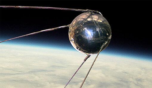 Lanzamiento del primer satélite orbital (el Sputnik I).