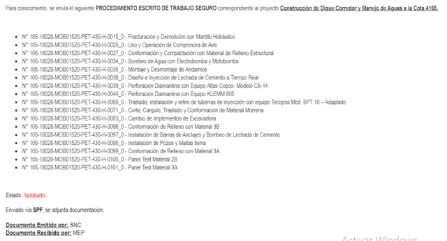 APROBADO - PROCEDIMIENTO ESCRITO DE TRABAJO SEGURO (PETS) - N° 105-18028-MOB01520-PET-430-H-0015 #25,27,34,35,38,39,40,69,71,93,96,97,98,99,100,101 REV.0