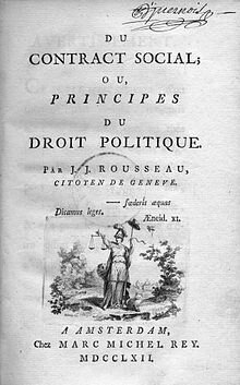 """Publicación de """"El contrato Social"""" de Rousseau"""