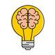 98761589 idea de luz de bombilla con diseño de ilustración vectorial de cerebro