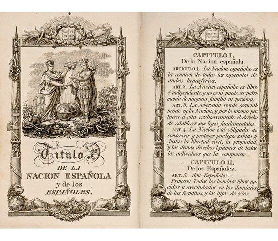 Las características de la constitución de 1812
