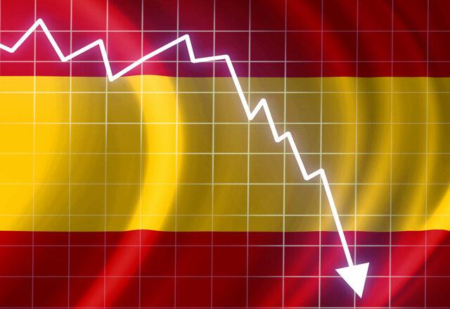 Economia Espanya cau un 11% (fet econòmic)