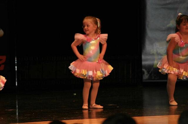 Yo tuve mi primera recital de bailar