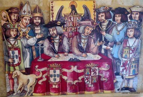 La firma del Tratado de Tordesillas