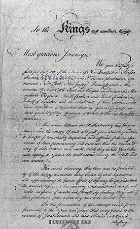 The Olive Branch Petition.