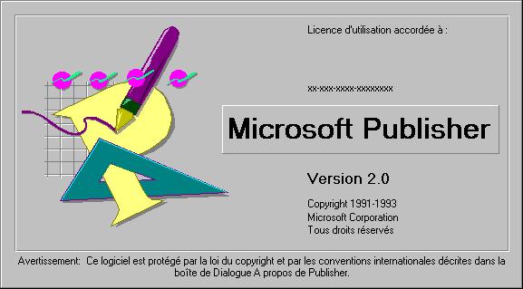 Microsoft Publisher 2.0, para Windows.