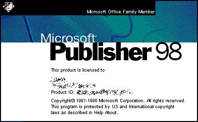 Microsoft Publisher 98 (Windows 95 y superior), incluido en el SDK de Office 97.