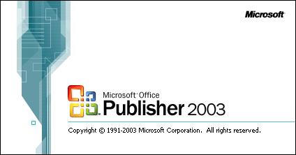 Microsoft Office Publisher 2003 (Windows 2000 SP3 y superior), incluido en las versiones Small Business, Professional y Enterprise Professional.