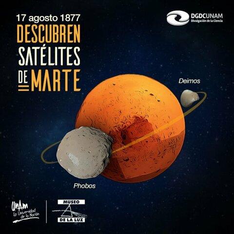 Se descubren dos satélites en Marte.