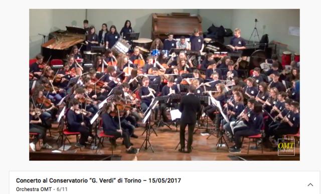 Esibizione con orchestra OMT