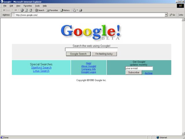 Creación de Google Inc