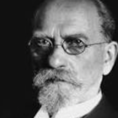 "German philosopher Edmund Husserl (1859-1938), ""Father"" of phenomenology. Beyer, Christian. ""Edmund Husserl."" Stanford Encyclopedia of Philosophy, Stanford University, 18 Nov. 2020, https://plato.stanford.edu/entries/husserl/. timeline"