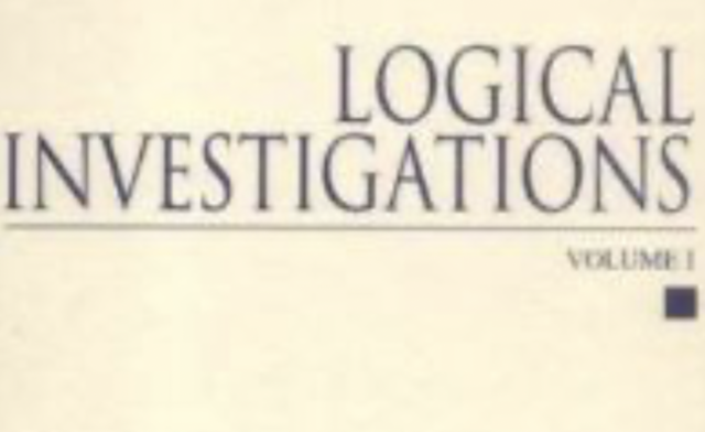 The Foundation: Logical Investigations