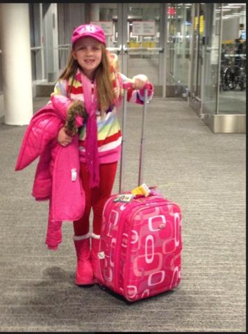 madre y yo volamos al Canadá