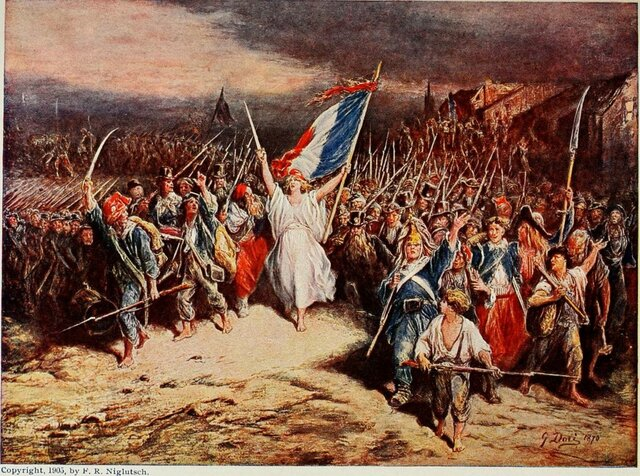 Comienzo de la Revolución francesa.