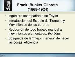 Frank Bunker Gilbreth/estableció el sistema Therbling