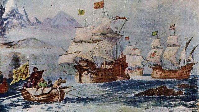 Llegada de Hernando de Magallanes al estrecho