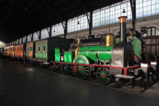 El primer tren que circuló