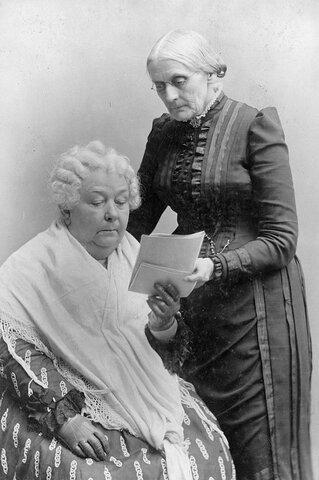 Elizabeth Stanton y Susan B. Anthony.