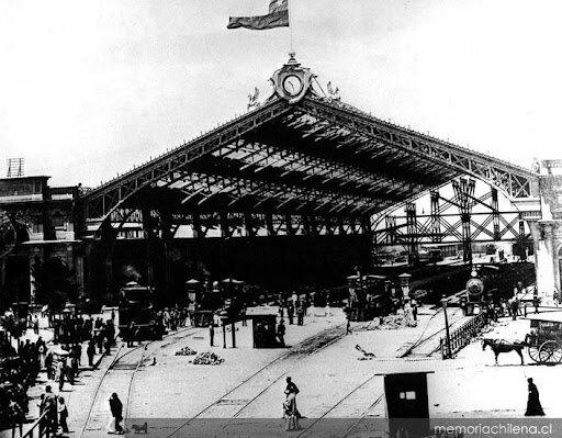 Inauguración de la Estación Central de Santiago